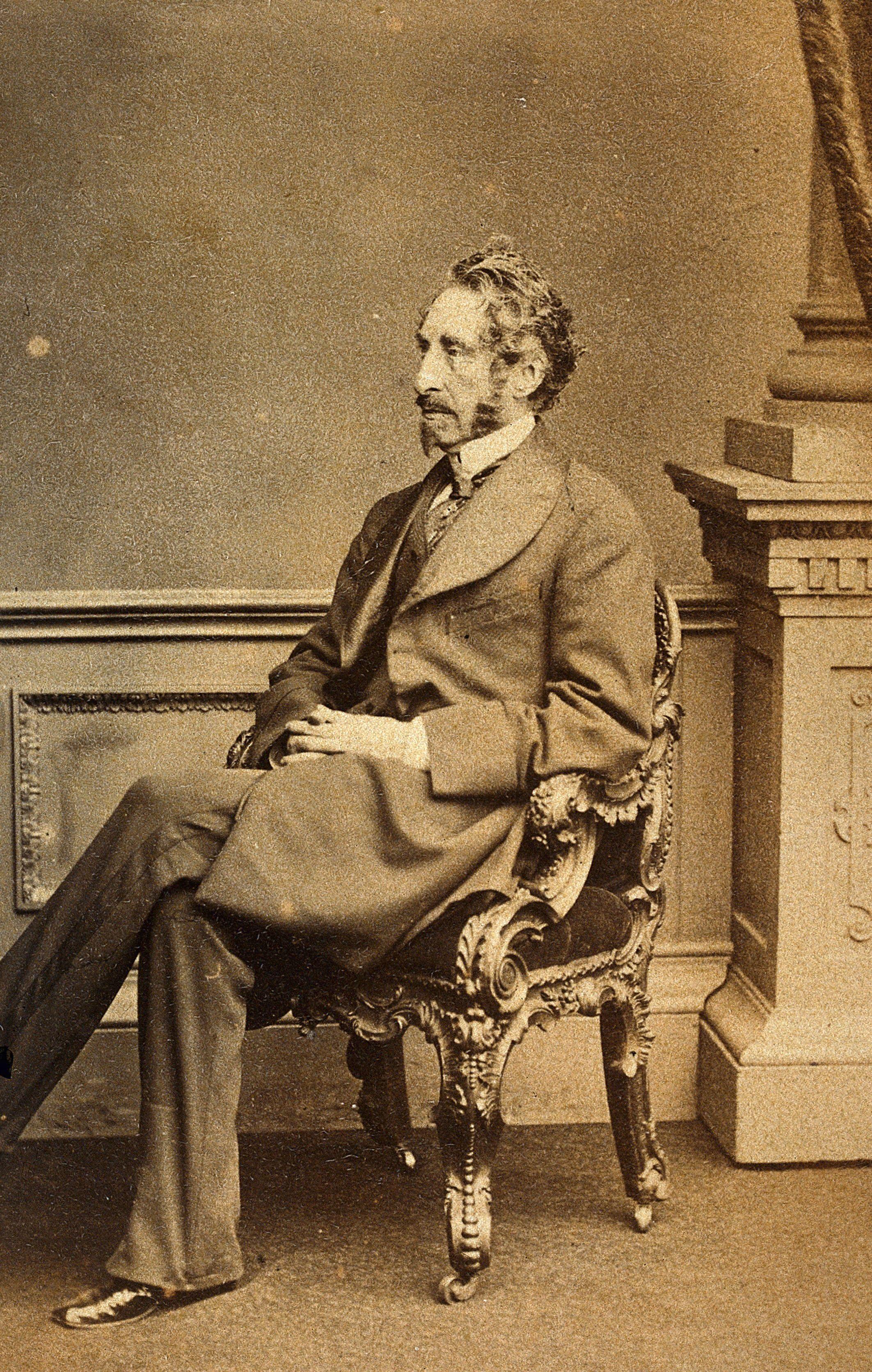 Sir Edward Bulwer Lytton. Photograph. | Wellcome Collection
