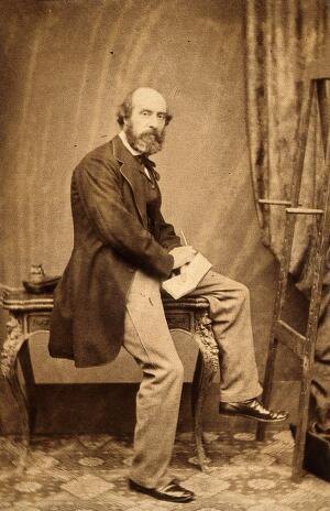 view Charles West Cope. Photograph by Maull & Polyblank.