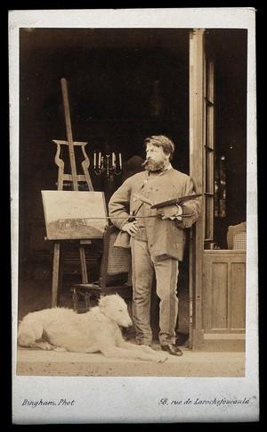 view Jean-Louis Ernest Meissonier. Photograph by Bingham.
