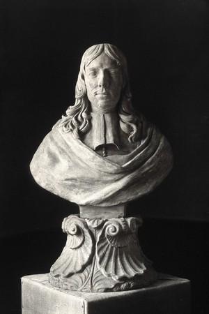 view Frederik Ruysch. Photograph, 1927 after a terracotta bust, 17th century.