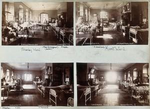 view St Bartholomew's Hospital, London: patients and nurses in Luke ward. Photograph, c.1908.