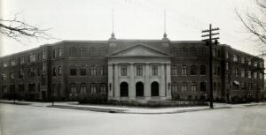 view Philadelphia College of Pharmacy and Science: front of building. Photograph, c. 1933.