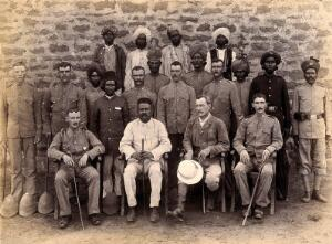 view A group of plague staff, part of the Karachi Plague Committee, India. Photograph, 1897.