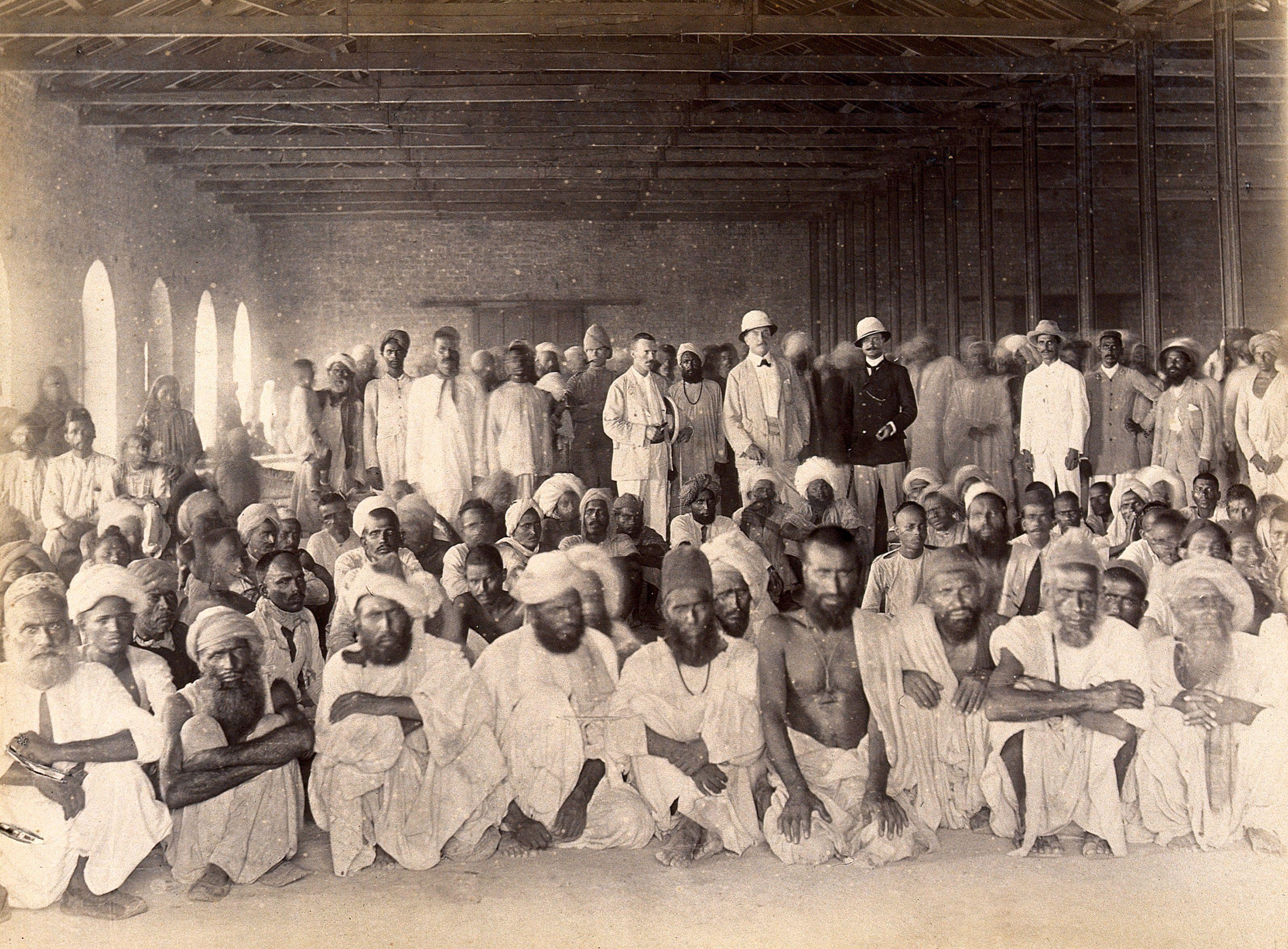 Quarantine area, during bubonic plague outbreak, Karachi ...