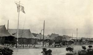view World War One: Rouen, France: a general hospital: view of hospital tents. Photograph, 1916.