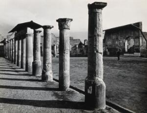 view Pompeii: the columns of the Stabian baths gymnasium. Photograph by Alinari, 1931.
