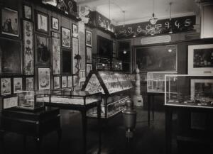 view Wellcome Historical Medical Museum, Wigmore Street, London: alchemy and chemistry section of first floor galleries. Photograph, 1924.