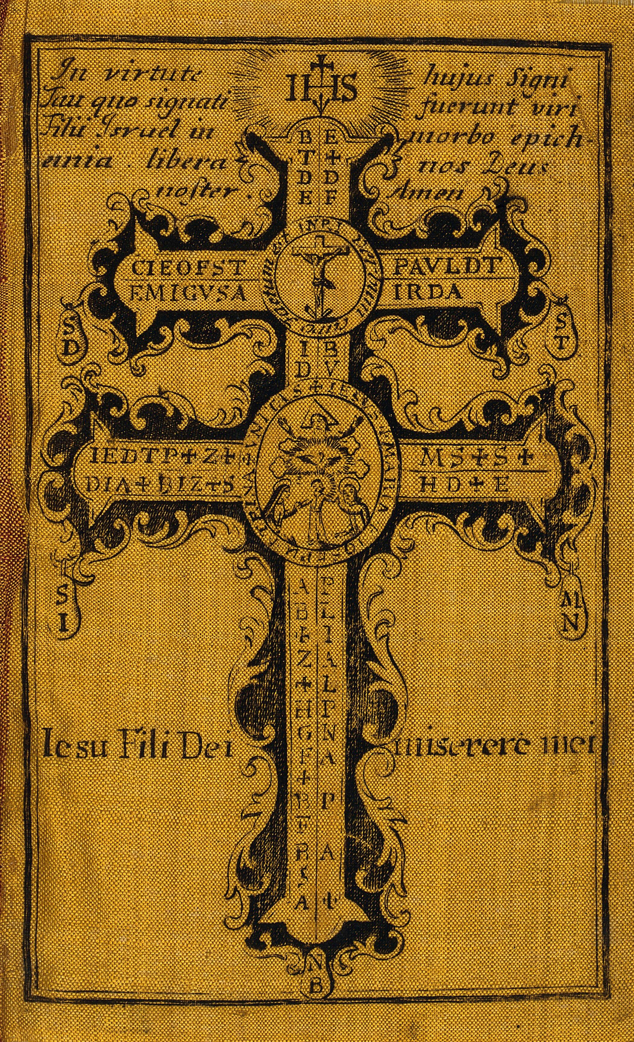 The Holy Cross, serving as an amulet against plagues ...
