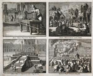 view Judaic rituals in the Old Testament. Engraving.