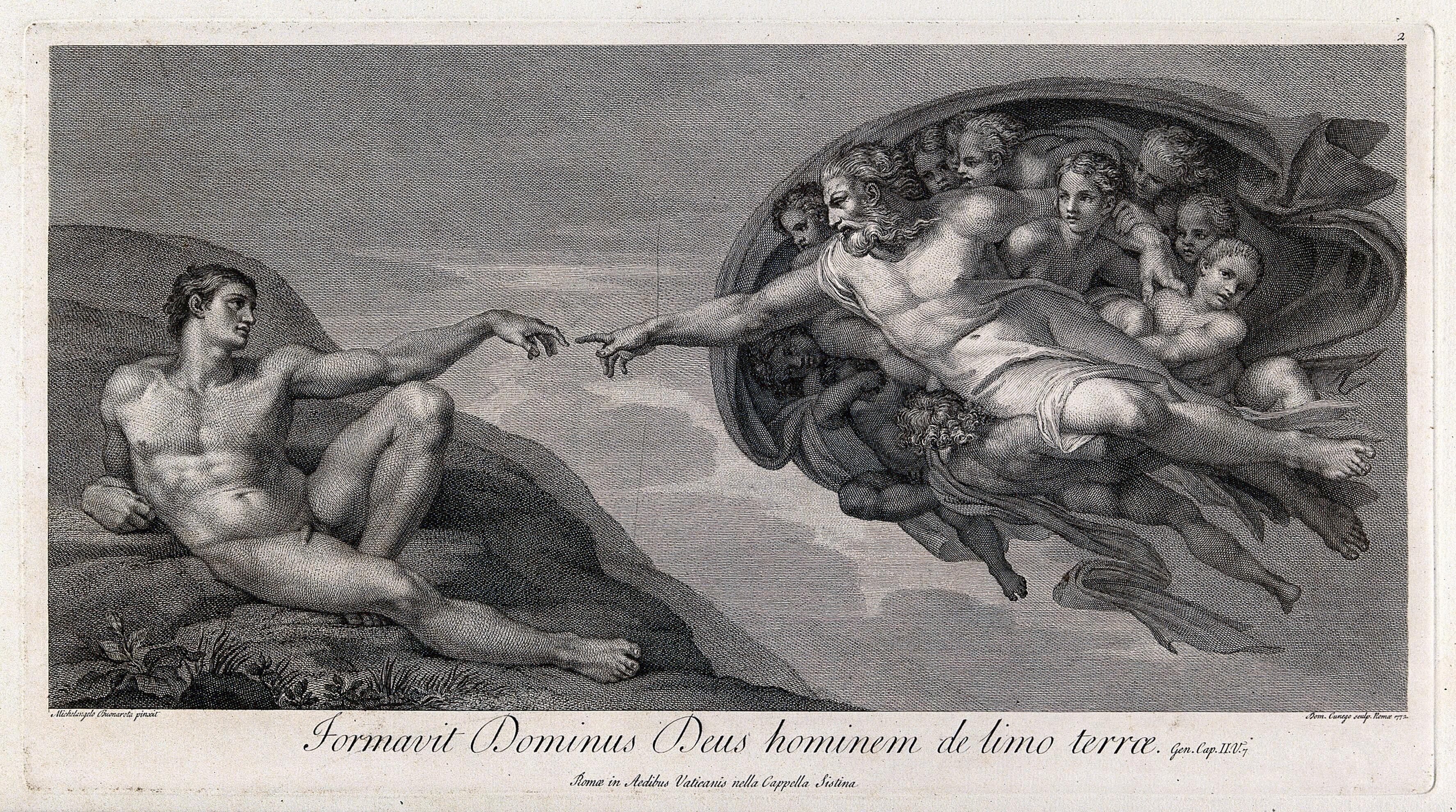 46e1d4b9da3b The creation of Adam. Engraving by D. Cunego