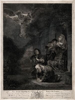 view The Entombment of the Virgin Mary, surrounded by the apostles. Etching.