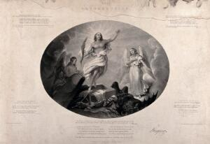 view The Resurrection. Aquatint by G. Sanders after E. Taylor.
