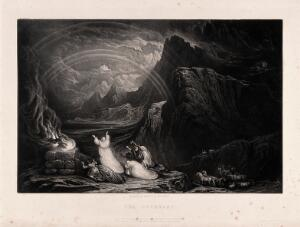 view The covenant. Mezzotint by J. Martin, 1832.