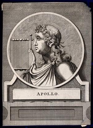 view Apollo. Etching.