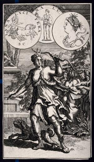 view Diana [Artemis]. Etching.