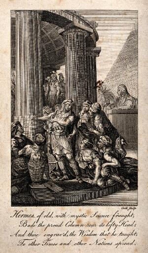 view Mercury [Hermes Trismegistus]. Etching by Cook.