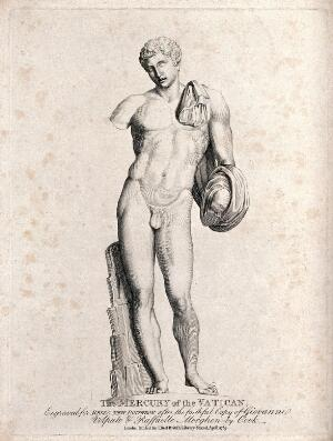 view Mercury [Hermes]. Engraving by Cook, 1789, after G. Volpato and R. Morghen.