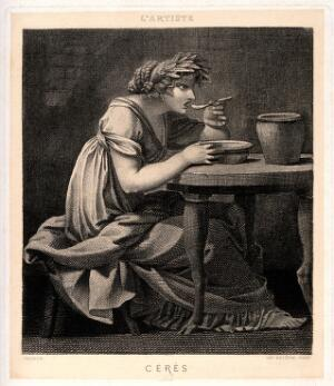 view Ceres [Demeter]. Engraving after P.P. Prud'hon.