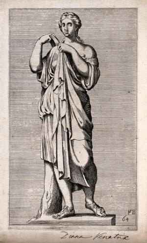 view Diana [Artemis]. Etching by F. Perrier.