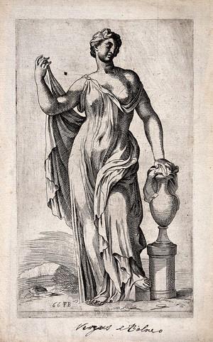 view Venus [Aphrodite]. Etching by F. Perrier.
