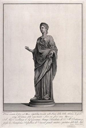 view Flora. Engraving by F. Piranesi, 1784, after L. Corazzari.