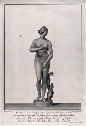 view Venus [Aphrodite]: the Medici Venus. Engraving by F. Piranesi, 1781, after T. Piroli.
