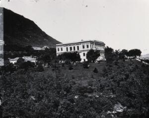 view Government House, Hong Kong. Photograph, 1981, from a negative by John Thomson, 1868/1871.