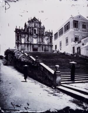 view Macao, Kwangtung province, China. Photograph, 1981, from a negative by John Thomson, 1870.