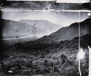 view Formosa [Taiwan]. Photograph, 1981, from a negative by John Thomson, 1871.