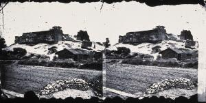 view Fort Zeelandia, Formosa [Taiwan]. Photograph, 1981, after a negative by John Thomson, 1871.
