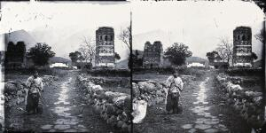 view Kiukiang, Kiangsi province, China. Photograph, 1981, from a negative by John Thomson, ca. 1870.