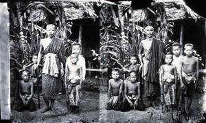 view A Siamese Buddhist bonze (Buddhist Priest) and pupils, Siam
