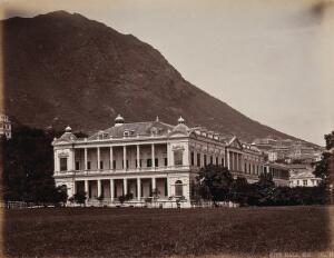 view Hong Kong City Hall. Photograph by W.P. Floyd, ca. 1873.