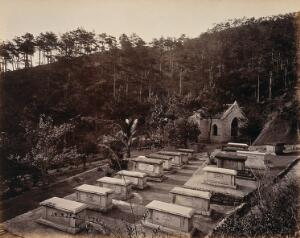 view Hong Kong: the Parsee Cemetery, Happy Valley. Photograph by W.P. Floyd, ca. 1873.
