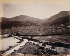 view Hong Kong: the racecourse. Photograph, 1873 by W.P. Floyd, ca. 1873.
