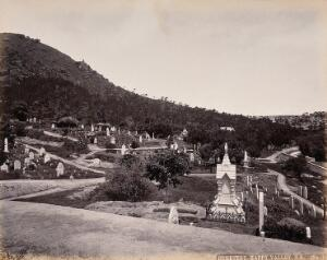 view Hong Kong: the Protestant Cemetery, Happy Valley. Photograph by W.P. Floyd, ca. 1873.
