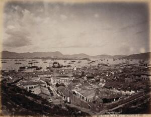 view The Chinese town, West Point, Hong Kong. Photograph by W.P. Floyd, ca. 1873.