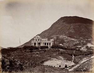 view Hong Kong: Douglas Castle, Pokfulum. Photograph by W.P. Floyd, ca. 1873.