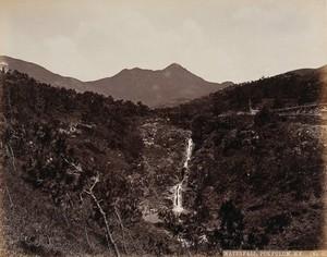 view Hong Kong: the waterfall at Pokfulum. Photograph by W.P. Floyd, ca. 1873.