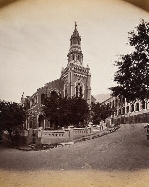 view Hong Kong: the Union Chapel. Photograph by W.P. Floyd, ca. 1873.