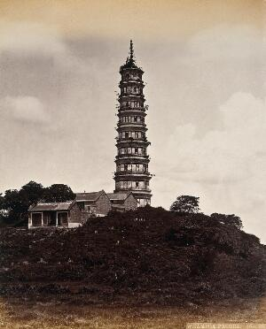 view Canton, China: the Whampoa Pagoda. Photograph by W.P. Floyd, ca. 1873.