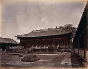 view Canton, China: the Temple of Confucius. Photograph by W.P. Floyd, ca. 1873.