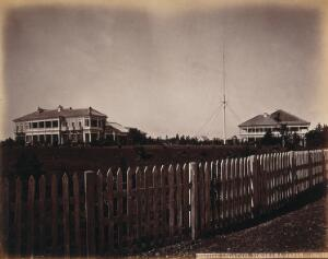 view Yokohama, Japan: the British Consulate buildings and grounds. Photograph by W.P. Floyd, ca. 1873.