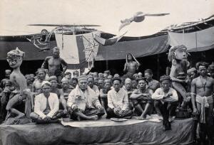 view Sarawak: a peace-making ceremony between two Kayan tribes. Photograph.