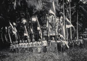 view Sarawak: Murut women at a head feast. Photograph.