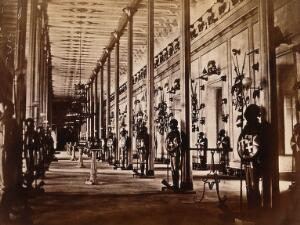 view Malta: the armoury of the Governor's Palace. Photograph by H. Agius, c. 1881.