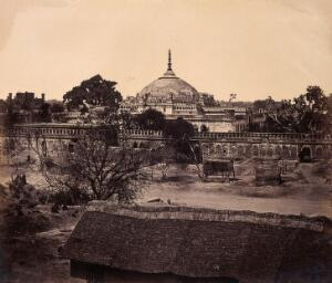 view Lucknow, India: the Shah Nujuf, or Tomb of Ghazu-oo-deen Hydern, after the Indian Mutiny. Photograph by Felice Beato, ca. 1858.