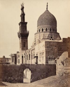 view The Mosque of the Emeer Akhoor, Cairo, Egypt. Photograph by Francis Frith, 1858.