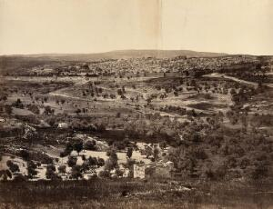 view Jerusalem: view from the Mount of Olives. Photograph by Francis Frith, 1858.