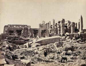 view The Temple of El-Karnak, Luxor, Egypt: view from the south east. Photograph by Francis Frith, ca. 1858.